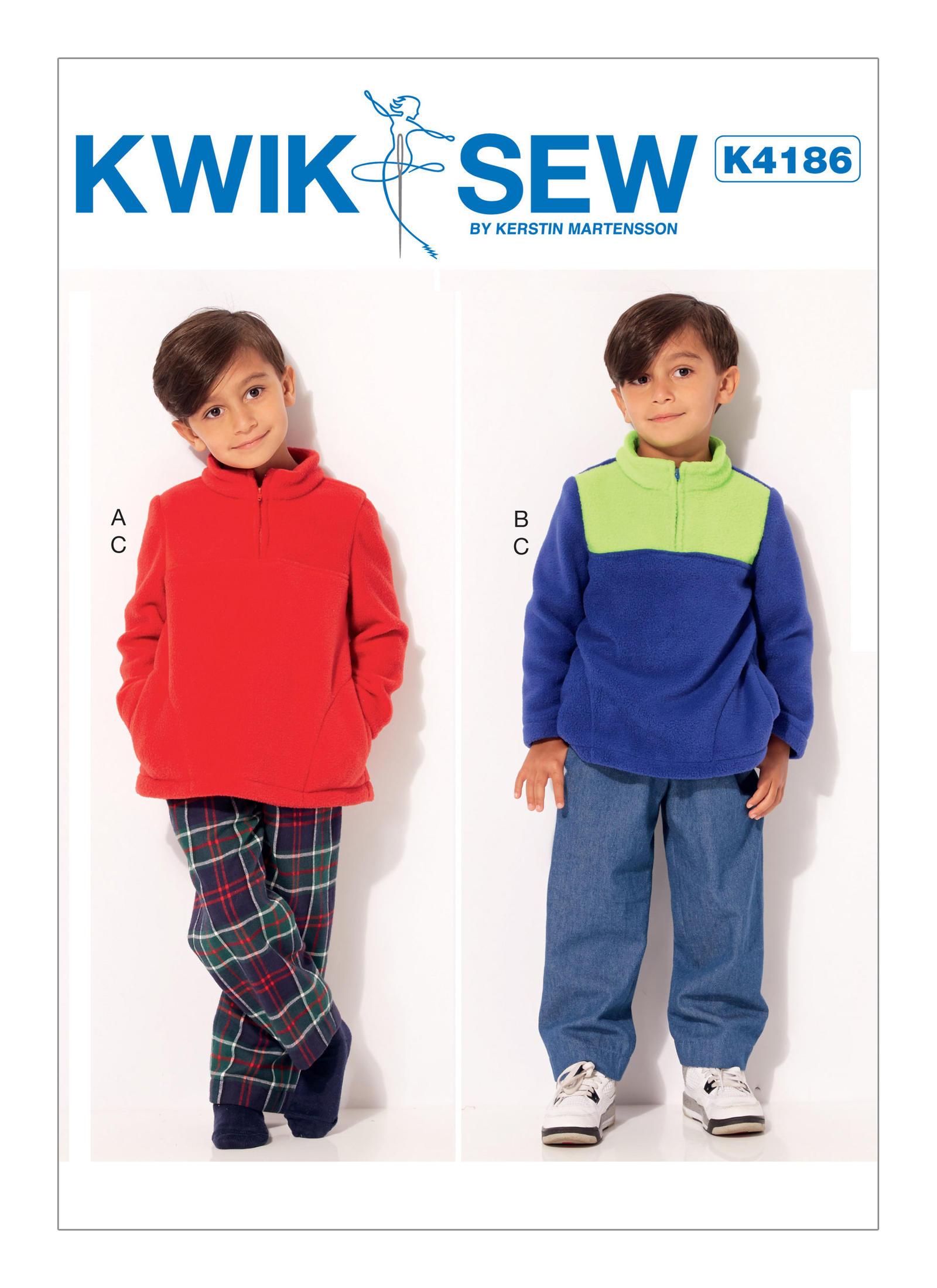 Kwik sew 4186 boys quarter zip jackets and elastic waist pants prevnext jeuxipadfo Choice Image