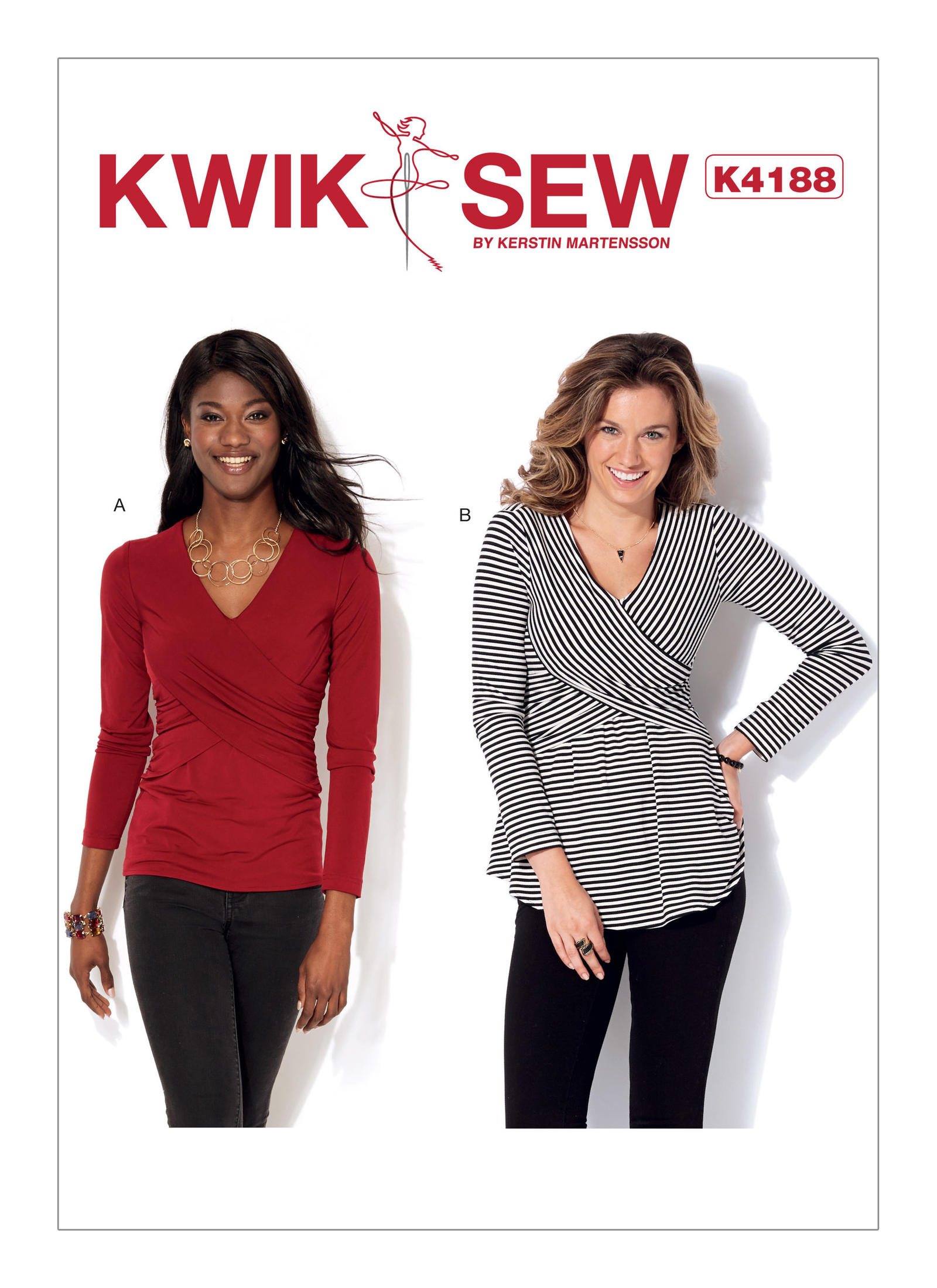 Kwik sew 4188 misses front crossover tops prevnext jeuxipadfo Choice Image