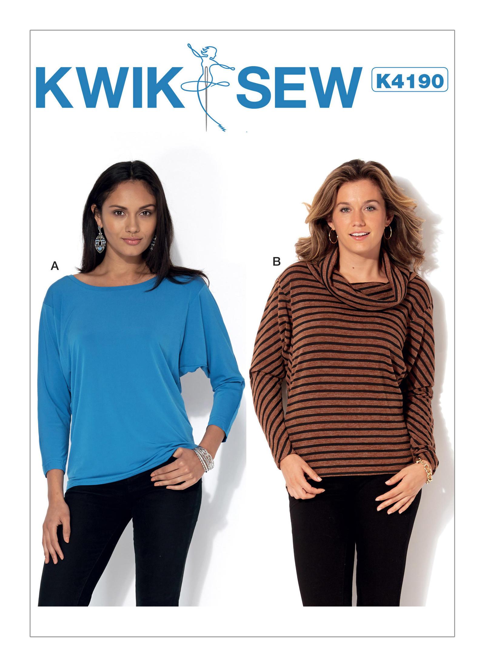 Kwik sew 4190 misses long sleeve batwing tops prevnext jeuxipadfo Choice Image