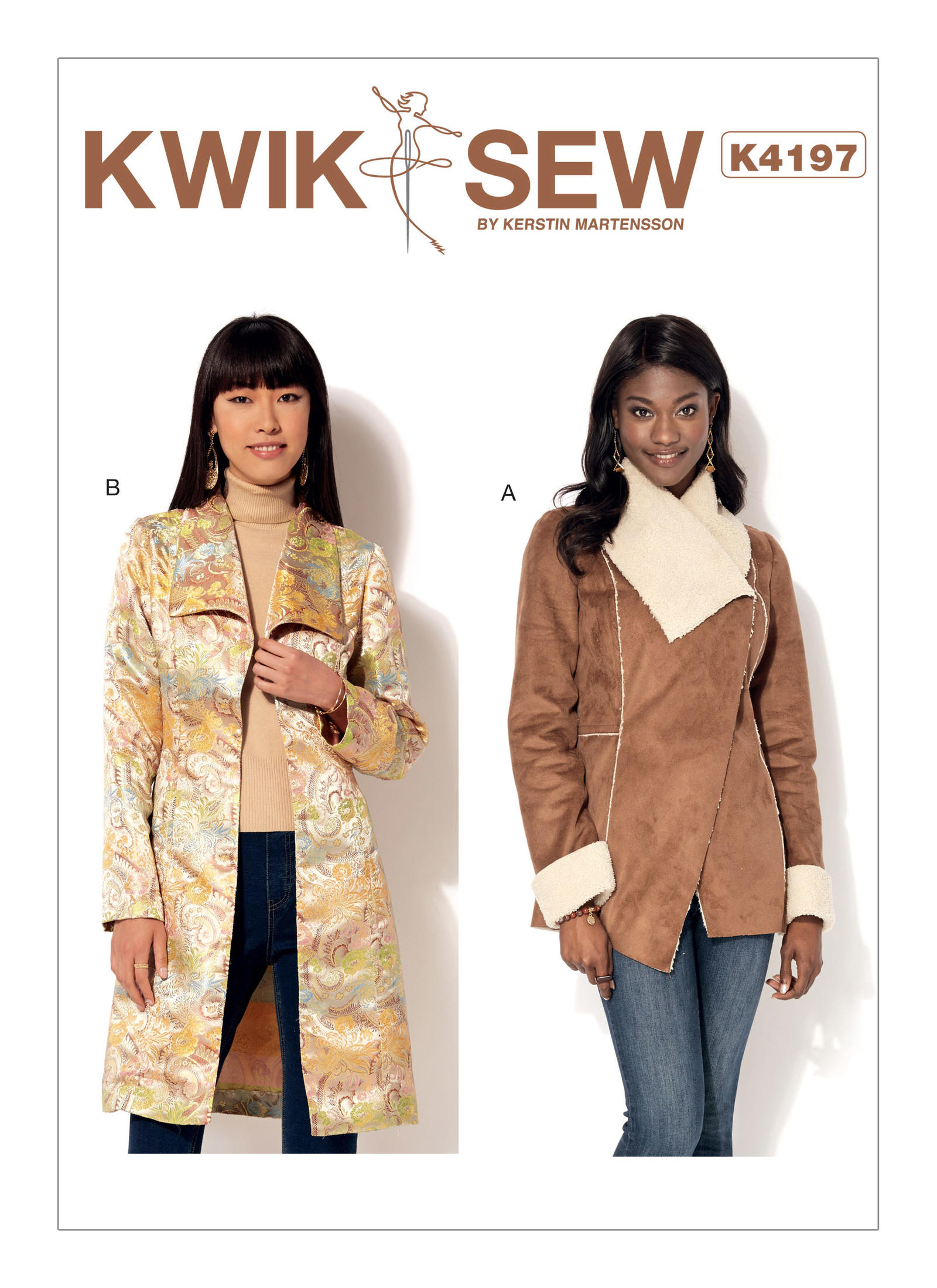 Kwik sew 4197 misses shawl collar jacket and coat prevnext jeuxipadfo Choice Image