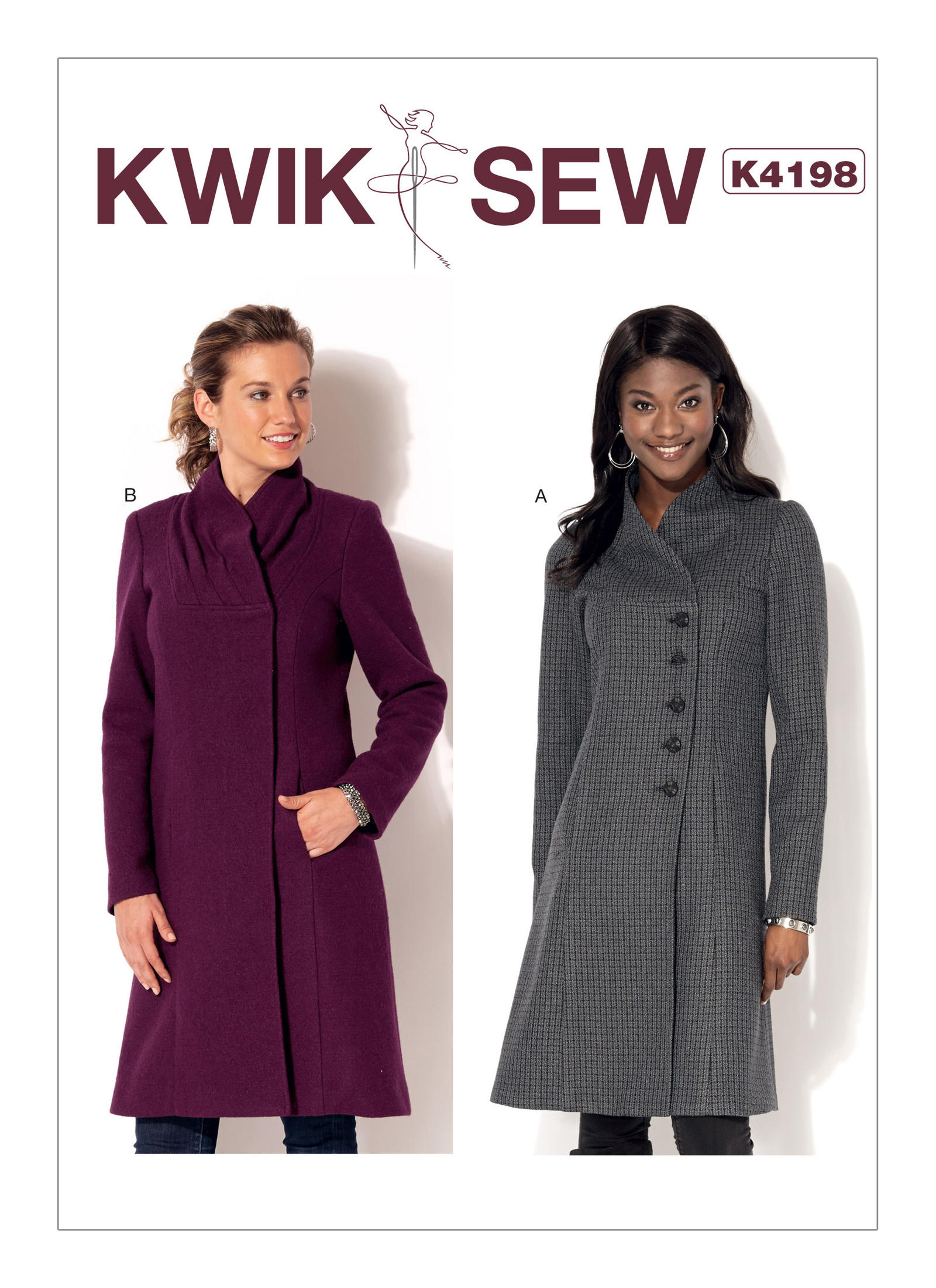 Kwik sew 4198 misses swan neck coats prevnext jeuxipadfo Choice Image