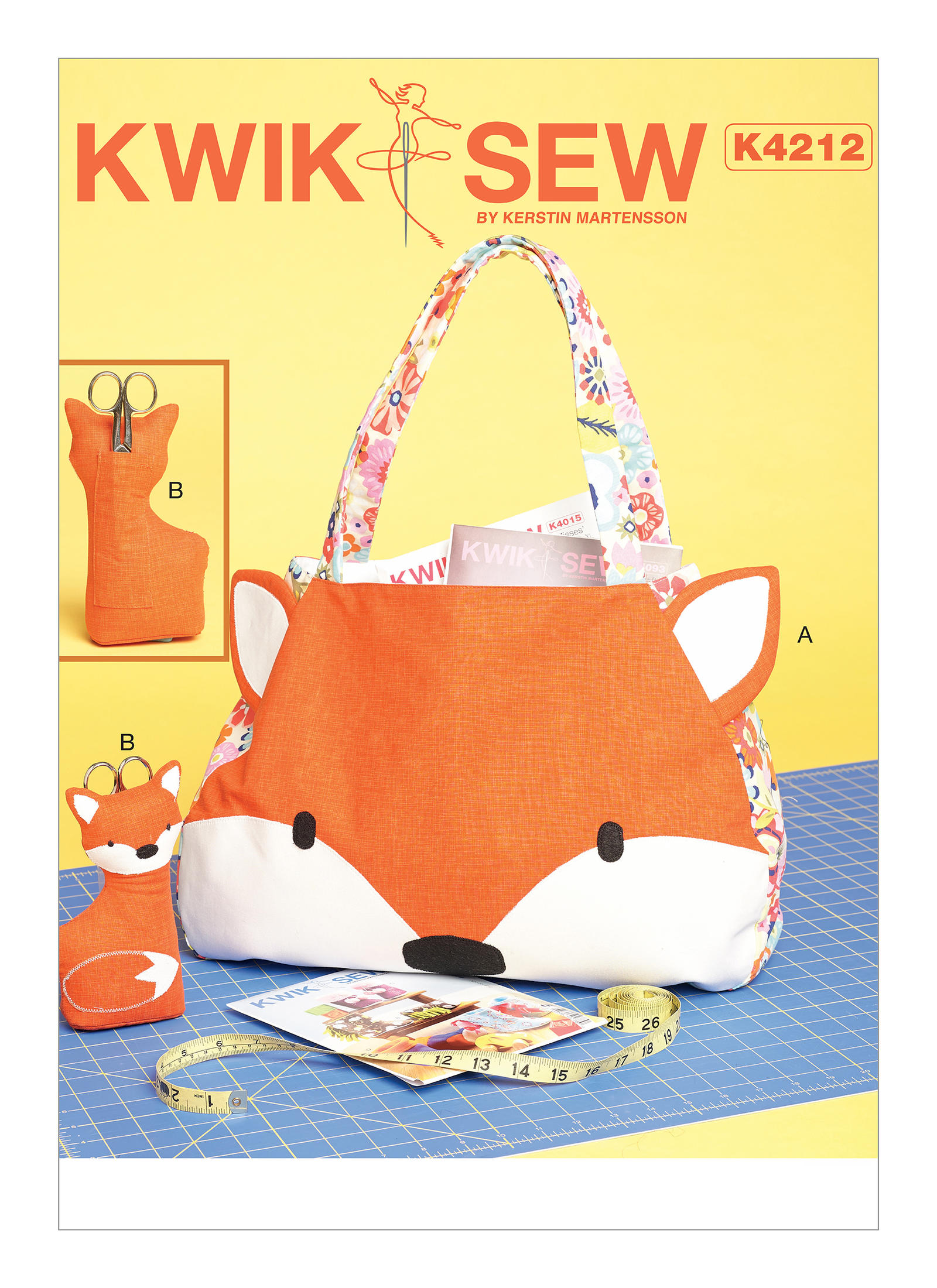 Kwik sew 4212 tote bag and scissor holder with pockets and appliqu prevnext tote bag a has appliqu publicscrutiny Image collections
