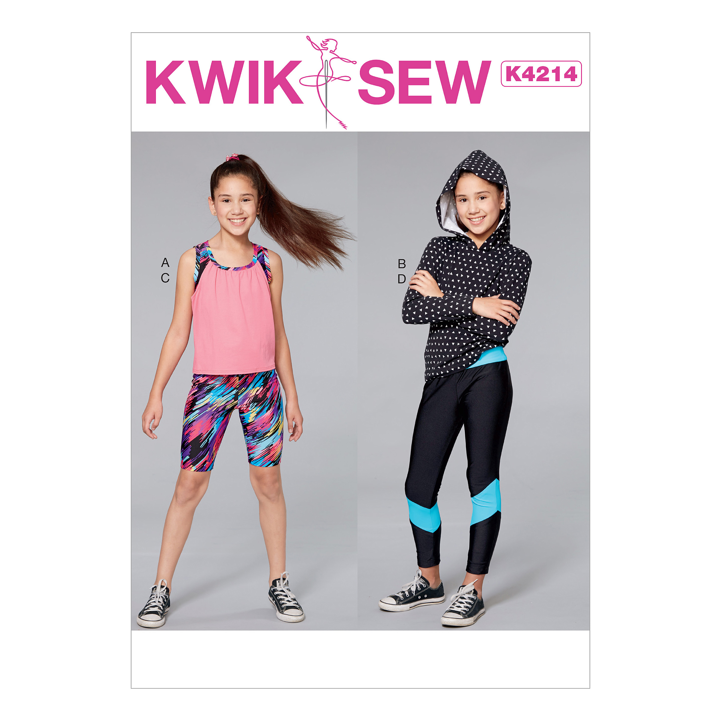 Kwik sew 4214 girls tank top capris and leggings prevnext jeuxipadfo Image collections