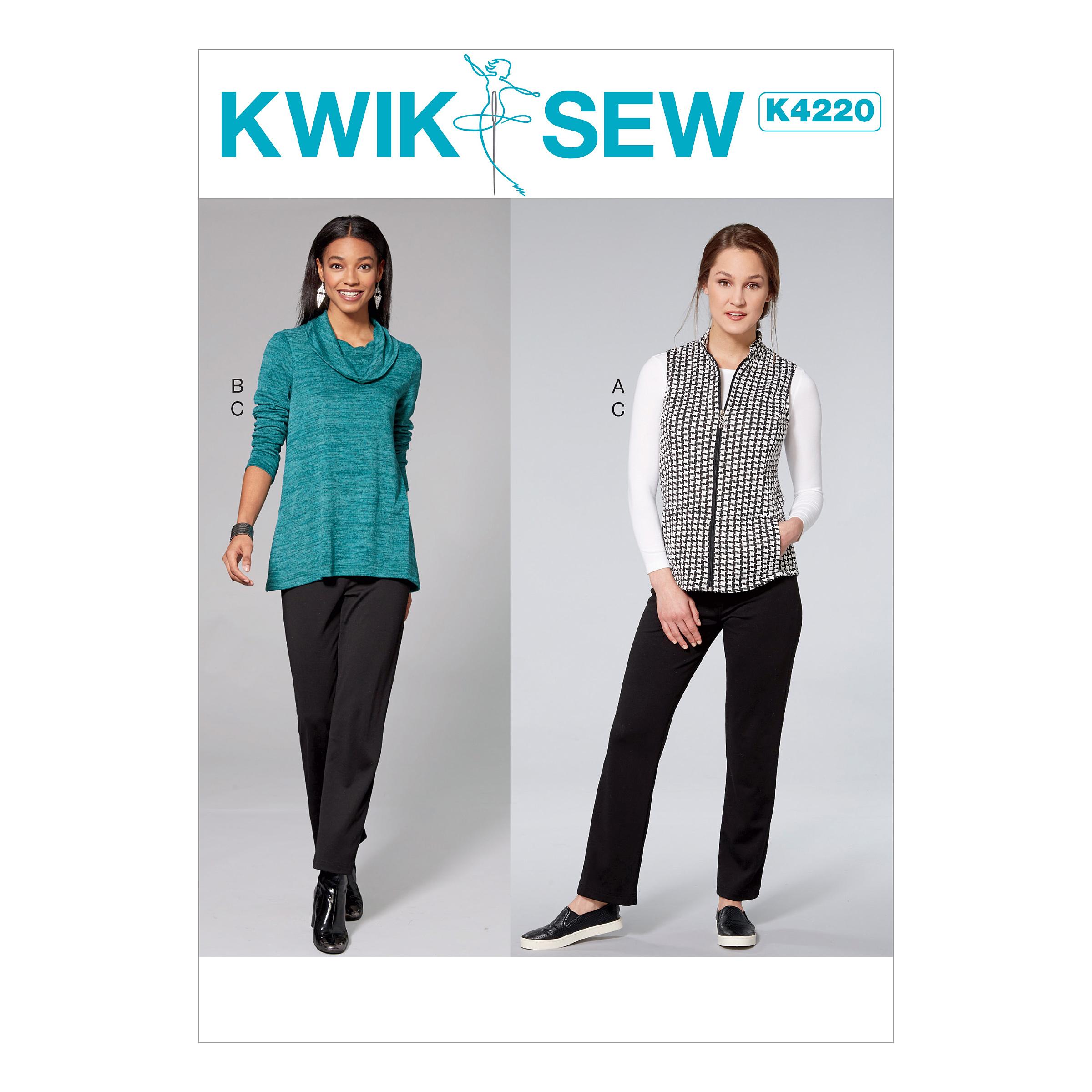 Kwik sew 4220 misses cowl neck top vest and pull on pants prevnext jeuxipadfo Choice Image