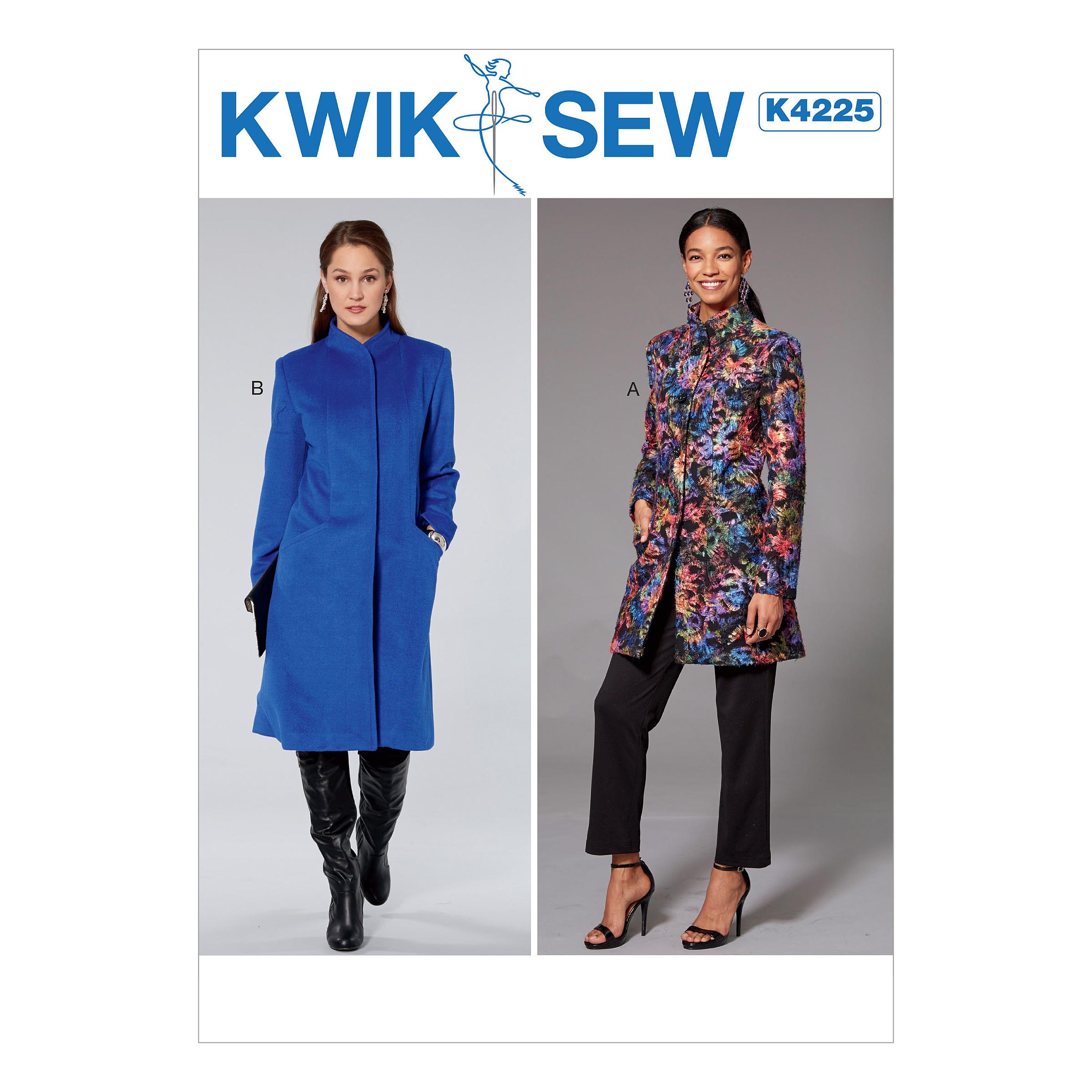 Kwik sew 4225 misses princess seam jacket and coat with high collar prevnext jeuxipadfo Choice Image