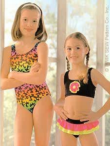 Kwik Sew 2422 Girls Swimsuits