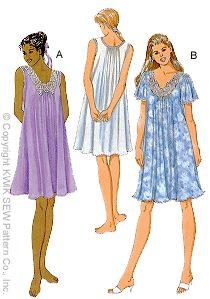 3204359914 Kwik Sew 2780 Misses Nightgown