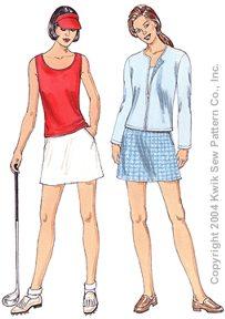 Kwik Sew Ladies Sewing Pattern 3232 Skort Top /& Cardigan