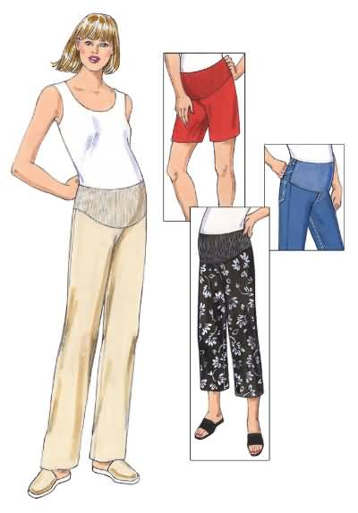 ba3ad6645906a Kwik Sew 3324 Misses Maternity Pants, Shorts and Jeans Panel