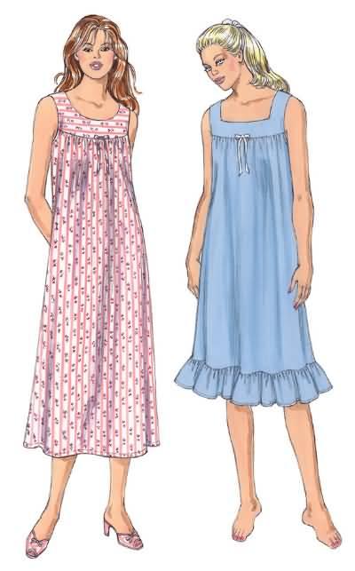 Kwik Sew 3343 Misses Nightgown