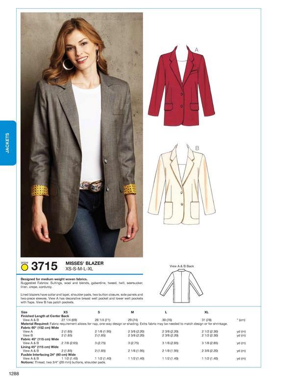 Kwik Sew 3715 Blazer