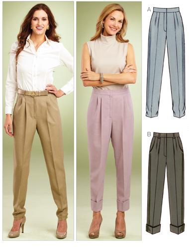 Kwik Sew 3853 Misses Tapered Pants