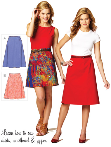 Kwik Sew 3877 Misses Skirt