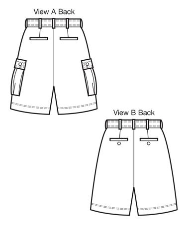 Kwik Sew 3884 Men\'s Shorts