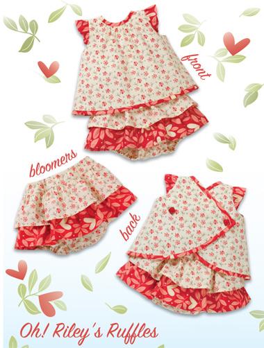 Kwik Sew 3901 Oh! Riley\'s Ruffles Baby Dresses