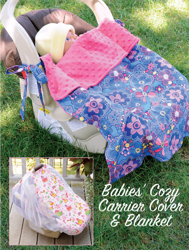 Kwik Sew 3923 Babies Cozy Carrier Cover and Blanket
