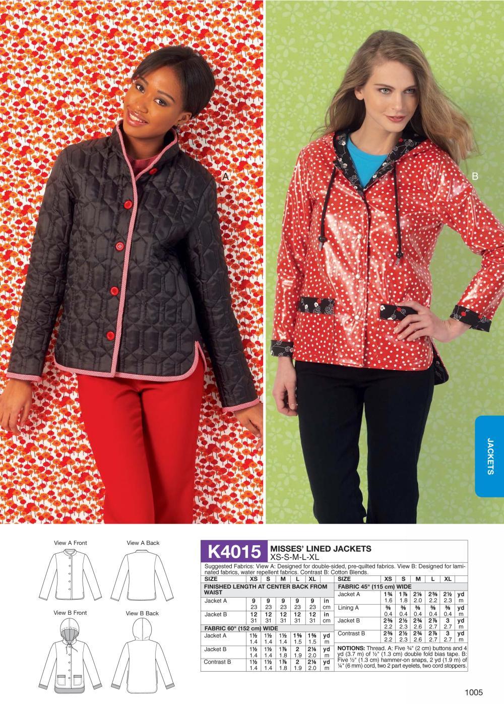 Kwik sew 4015 misses lined jackets prevnext jeuxipadfo Choice Image