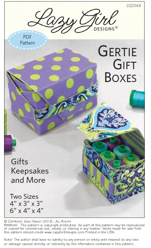 lazy girl designs 144 gertie gift boxes downloadable pattern