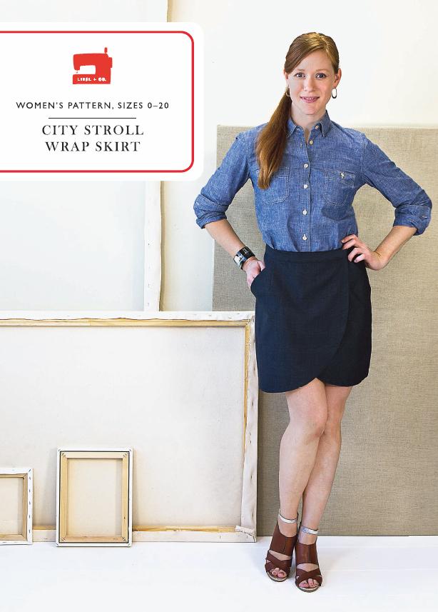 Liesl Co Lc014cs City Stroll Wrap Skirt Downloadable Pattern