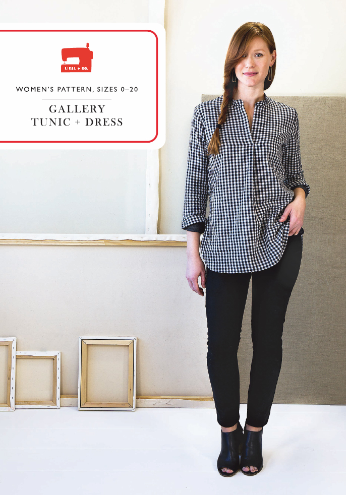 Liesl + Co. LC015GT Gallery Tunic and Dress Downloadable Pattern