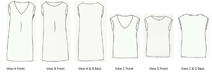 Loes Hinse Designs 1003 Cap Sleeve Dress