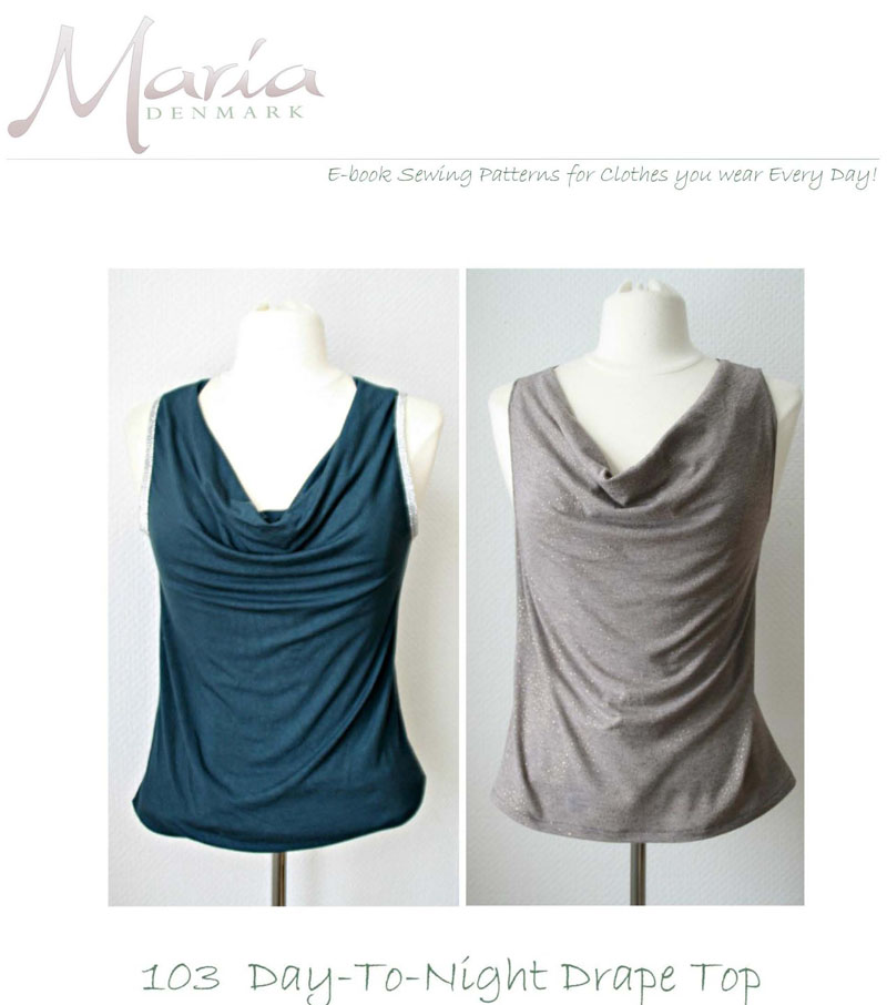 Mariadenmark 103 Day To Night Drape Top Downloadable Pattern