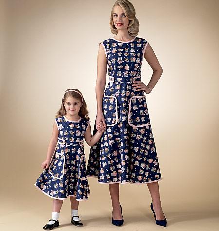 McCall s 7354 Misses  Children s Girls  Matching Back-Wrap Dresses fc7d502c33