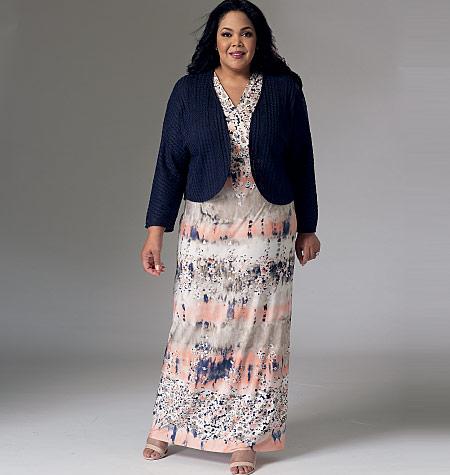 1bd1903d60c Mccalls misses womens shrug and surplice dresses jpg 450x475 Womens shrugs  for dresses