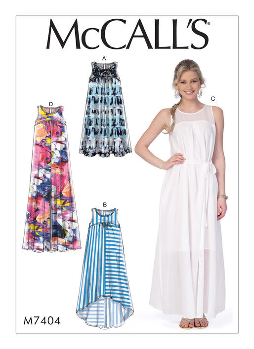 Mccalls 7404 Misses Dresses With Yokes And Belt