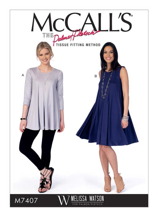 McCall's 40 Misses' Flared Knit Top And Dress Best Mccalls Pattern
