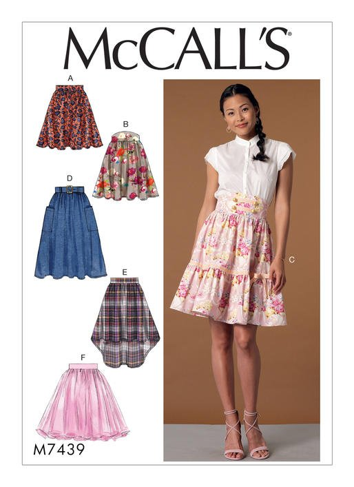 McCall's 40 Misses' Gathered And Flared Skirts With Belt New Mccalls Patterns