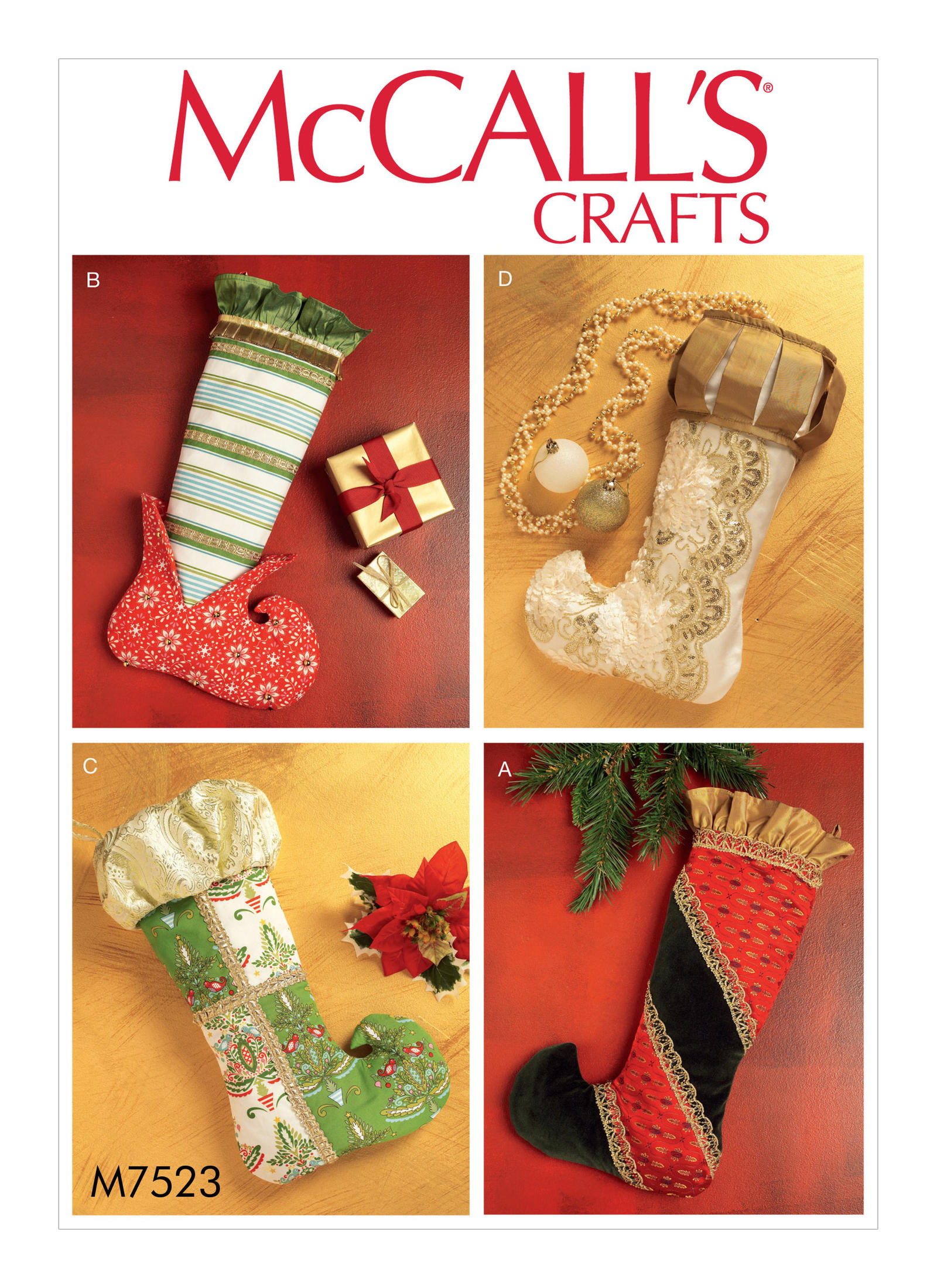 Patterns For Christmas Stockings Magnificent Design Ideas
