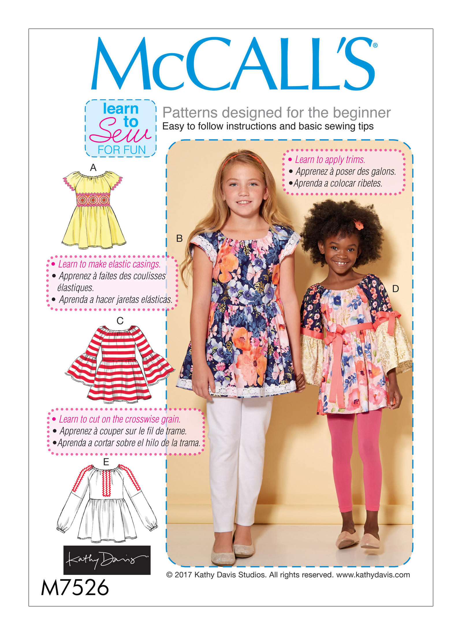 Mccall 39 s 7526 children 39 s girls 39 peasant tops for Kid chat rooms 12 14