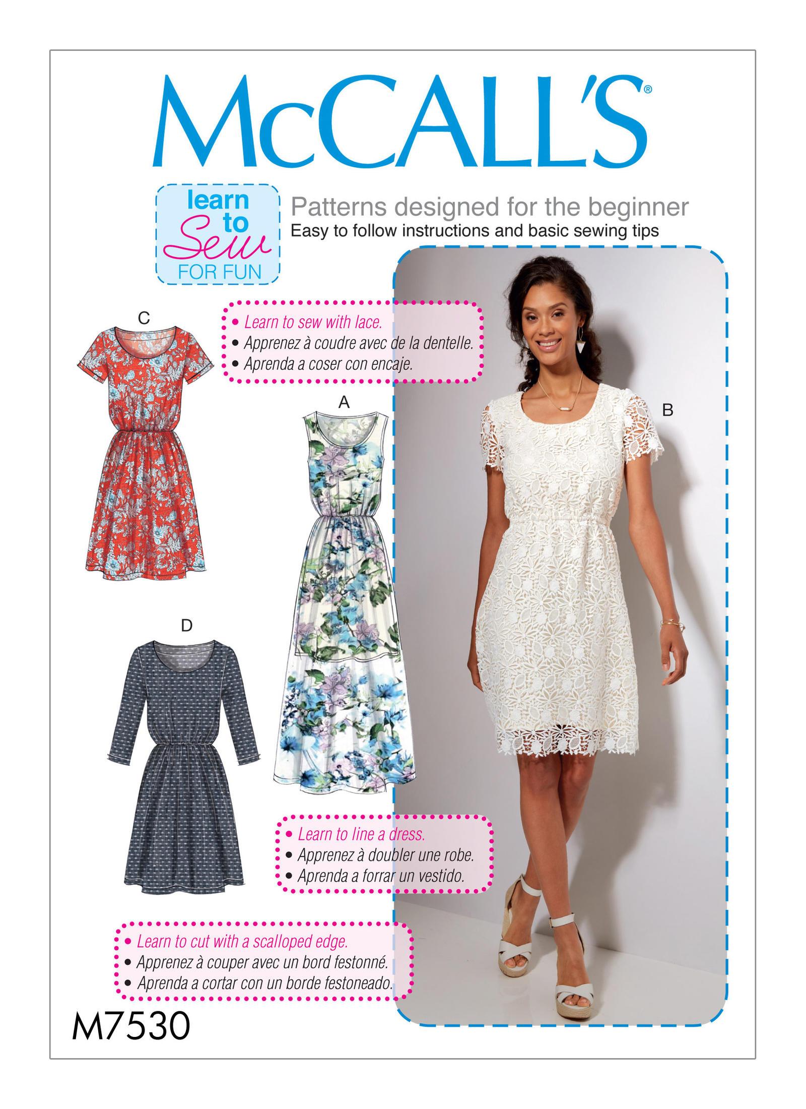 Mccalls 7530 misses gathered waist scoopneck dresses prevnext jeuxipadfo Images