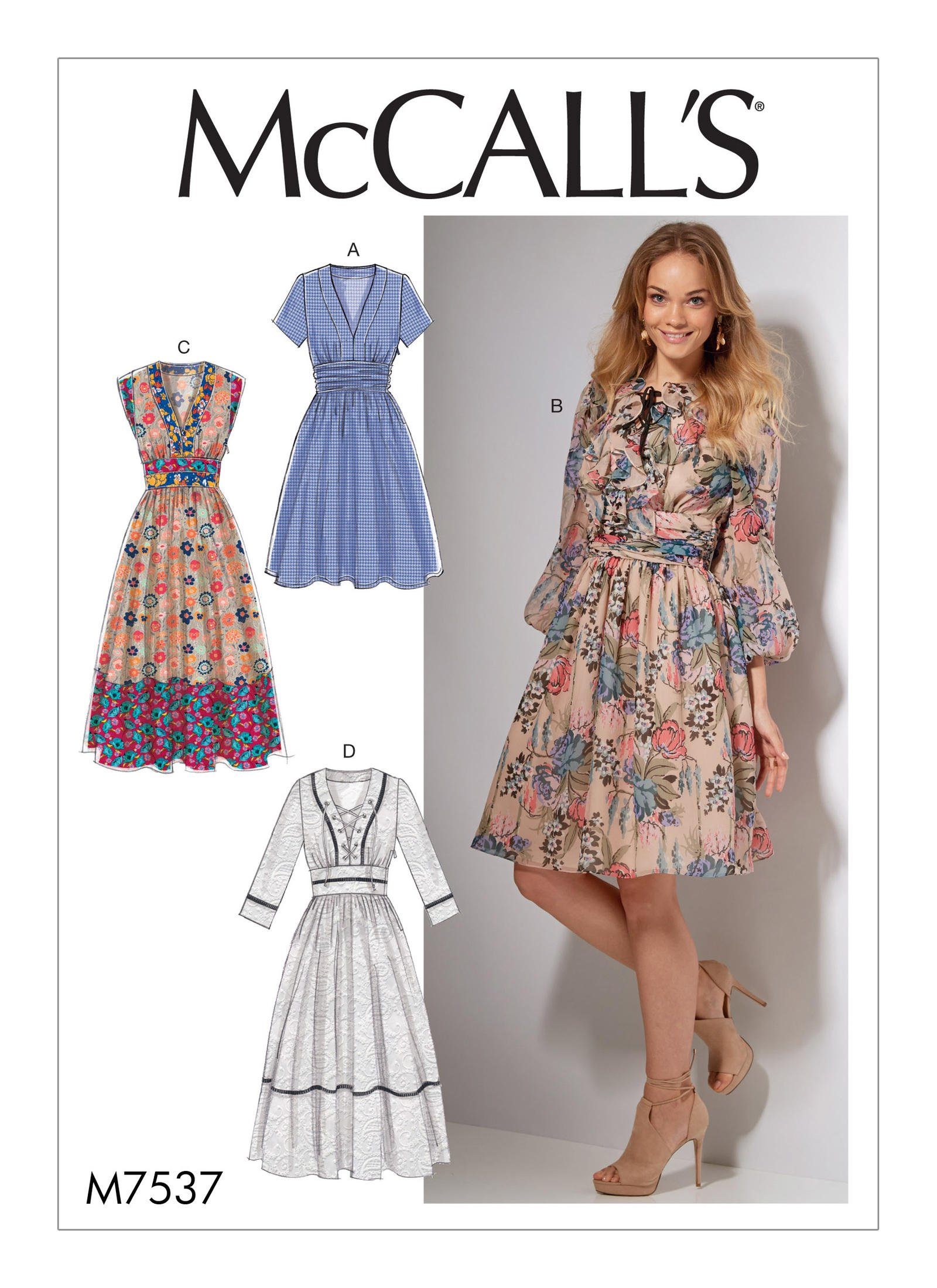Mccall S 7537 Misses Banded Gathered Waist Dresses