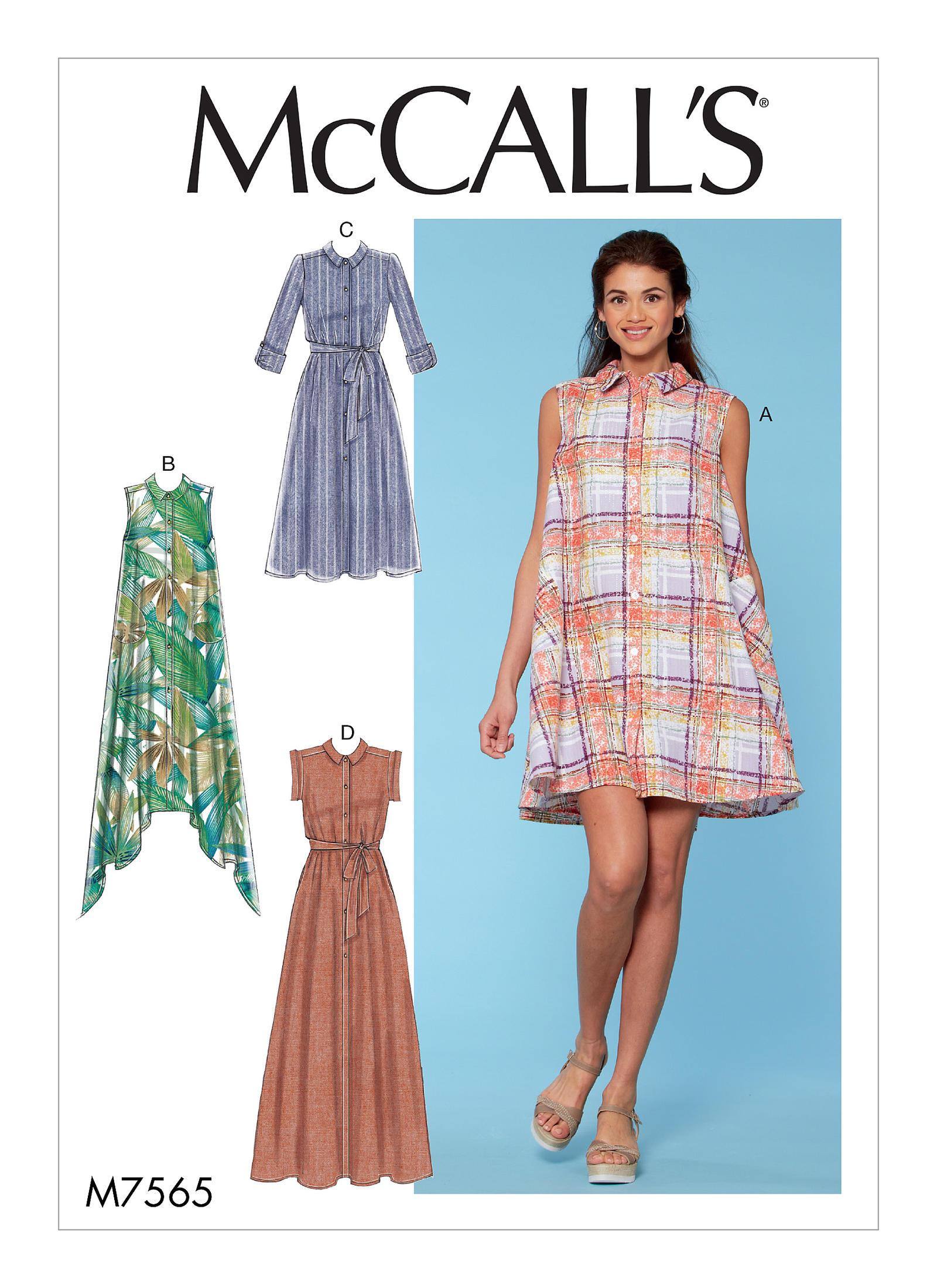 Colorblocked shirt dresses for misses
