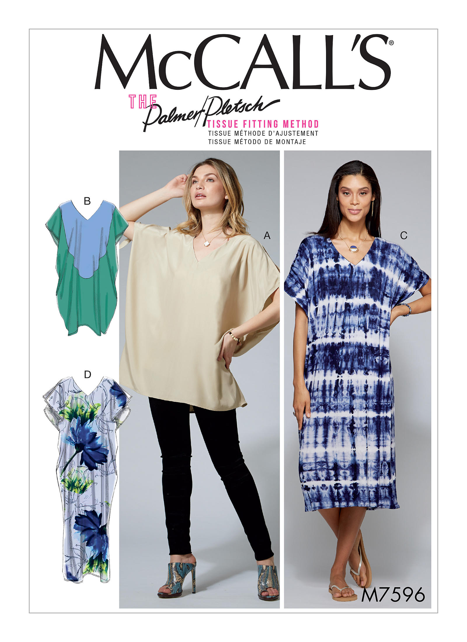bac6c66013f McCall s 7596 Misses  Loose-Fitting V-Neck Pullover Tunic and ...