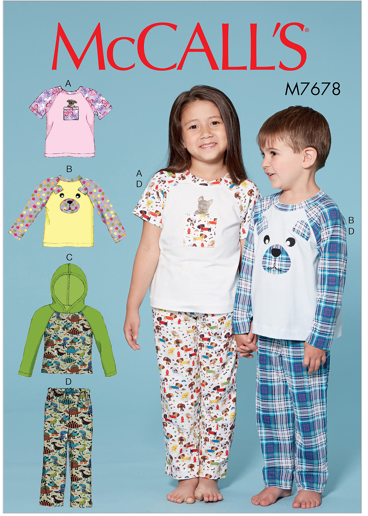 ce72b757add17 McCall s 7678 Children s Boys  Girls  Animal Themed Tops and Pants