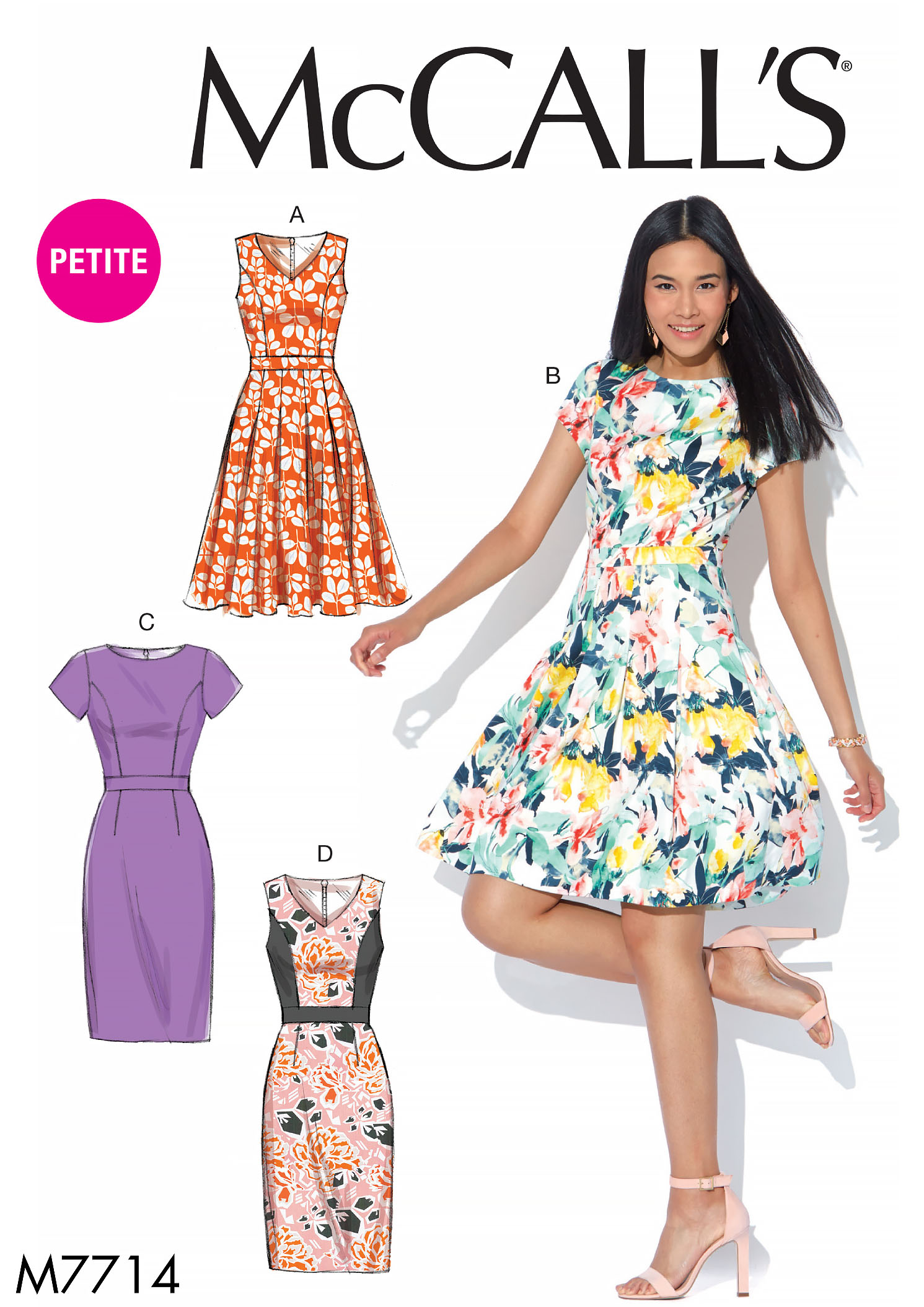 McCall's 7714 Misses'/Miss Petite Dresses
