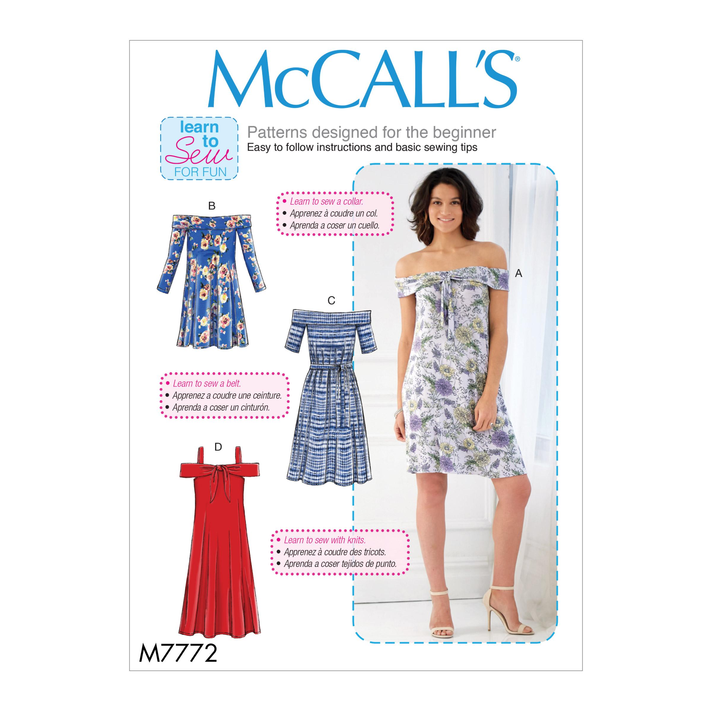 McCall\'s 7772 Misses\' Dresses