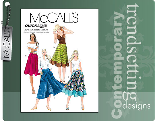 McCall's 5431 Quick and Easy Skirt