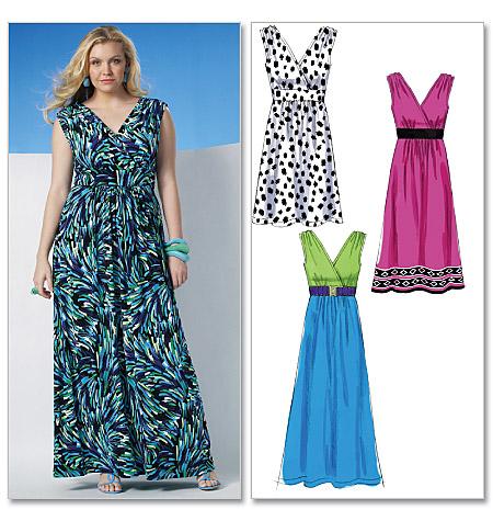 Simple Plus Size Dress Pattern Free Formal Dresses
