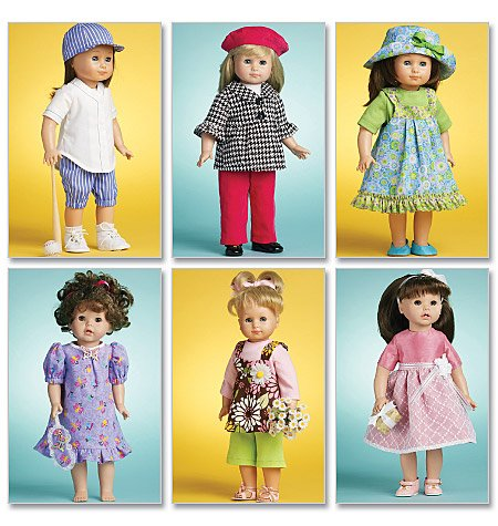 McCall\'s 6137 Doll Clothes For 18\