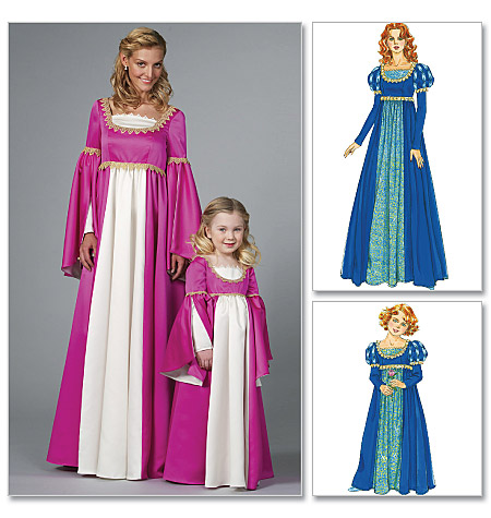 PrevNext  sc 1 st  Sewing Pattern Review & McCallu0027s 6141 Missesu0027/Childrenu0027s/Girlsu0027 Renaissance Costumes