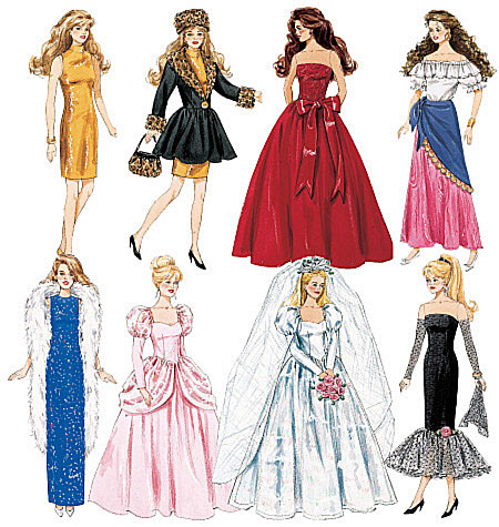 McCall\'s 6232 Fashion Doll Clothes