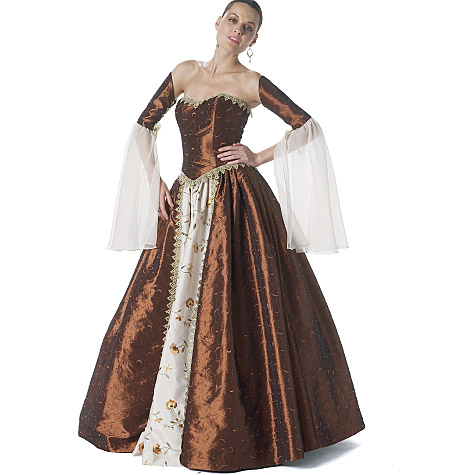 Mccall 39 s 6343 misses costume for Wedding dress patterns free
