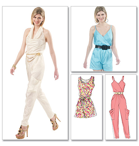 McCall\'s 6362 Misses Jumpsuits in two lengths and Sash