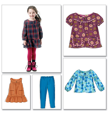 Mccalls 6388 Childrensgirls Tops Dresses And Leggings