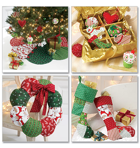 Mccall 39 s 6453 ornaments wreath tree skirt and stocking - Decoration de noel avec objet de recuperation ...