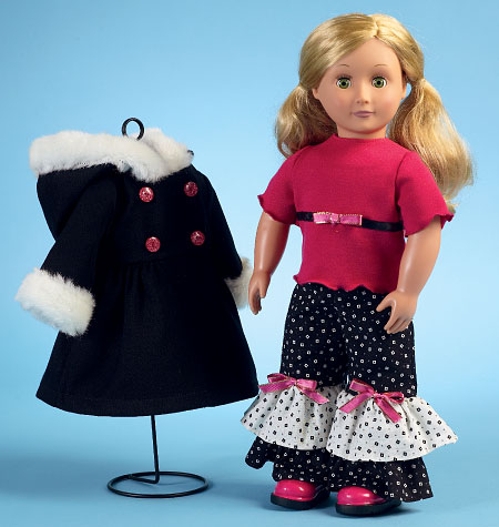 McCall\'s 6854 Clothes For 18\